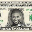 USHER on REAL Dollar Bill Spendable Cash Celebrity Money Mint