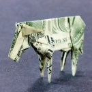 Money Origami COW - Dollar Bill Art - Made with $1.00 Cash