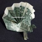 Money Origami PEACOCK - Dollar Bill Art - Made with real $1 Cash