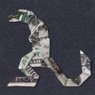 Money Origami GODZILLA - Dollar Bill Art - Made with real $1 Cash $1.00