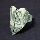 Money Origami HEART RING - Dollar Bill Art - Made with Real $1.00 Cash