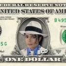 MICHAEL JACKSON on REAL Dollar Bill - King of Pop - Celebrity Collectible Cash