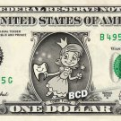 TOOTH FAIRY on a REAL Dollar Bill Cash Money Bank Note Dinero Currency