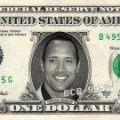 DWAYNE JOHNSON on REAL Dollar Bill - Collectible Celebrity Custom Money Cash Art