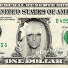 LADY GAGA on REAL Dollar Bill Cash Money Collectible Memorabilia Celebrity Bank