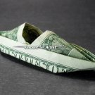 Money Origami KAYAK - Dollar Bill Art - Made with real $1 Cold Cash