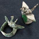 One(1) CRANE RING Money Origami - Dollar Bill Art