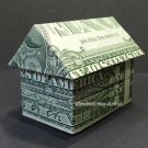 Money Origami 3-D HOUSE - Dollar Bill Art - Made with Real $1.00 Cash