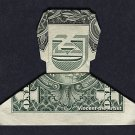 Money Origami SMILING DUDE - Dollar Bill Art - Made with $1.00 Bill Huell Howser