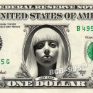 LADY GAGA on REAL Dollar Bill - Collectible Celebrity Custom Money Cash Mint
