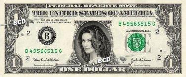 SHANIA TWAIN on a REAL Dollar Bill Cash Money Collectible Memorabilia Celebrity