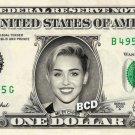 MILEY CYRUS - REAL Dollar Bill Cash Money Collectible Memorabilia Celebrity Novelty