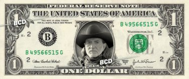 WILLIE NELSON - Real Dollar Bill Cash Money Collectible Memorabilia Celebrity Novelty