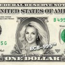 BRITNEY SPEARS on REAL Dollar Bill Cash Money Collectible Memorabilia Celebrity