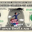 Disney's MARY POPPINS on REAL Dollar Bill - Collectible Cash Money