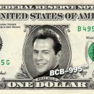BRUCE WILLIS on REAL Dollar Bill - Collectible Celebrity Custom Cash Money Art