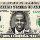 JAY-Z on REAL Dollar Bill Collectible Cash Celebrity Money Mint $1.00