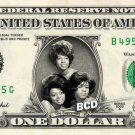 THE SUPREMES on a REAL Dollar Bill Cash Money Collectible Memorabilia Celebrity