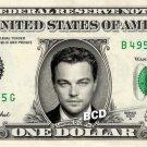 LEONARDO DI CAPRIO on REAL Dollar Bill - Collectible Celebrity Cash Money Art
