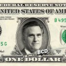 MITT ROMNEY on REAL Dollar Bill - Spendable Cash Collectible Celebrity Money Art