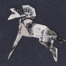Money Origami STALLION HORSE - Dollar Bill Art - Made with real $1 Cash
