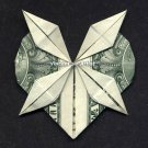 Money Origami HEART w/ 4-point Star - Dollar Bill Art - Made with Real $1 Cash