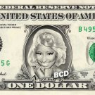 NICKI MINAJ on REAL Dollar Bill Spendable Cash Collectible Celebrity Money