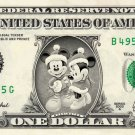 Disney's Christmas Mickey & Minnie REAL Dollar Bill Collectible Cash Money