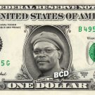 SAMUEL L JACKSON on REAL Dollar Bill Collectible Cash Celebrity Money Mint $1.00