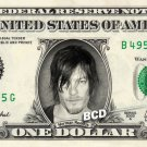 NORMAN REEDUS on REAL Dollar Bill Spendable Money Walking Dead - Daryl Dixon