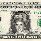 PRINCESS DIANA on REAL Dollar Bill - Spendable Cash Celebrity Money