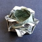 SMALL ROSE Money Origami - Dollar Bill Art - Gift made Real Cash