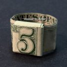 $5 Bill Money Origami RING - Dollar Bill Art - Made with real $5 Cash