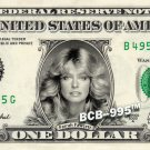 FARRAH FAWCETT on REAL Dollar Bill Cash Money Collectible Memorabilia Celebrity