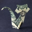 Money Origami CAT - Dollar Bill Art - Made with $1.00 Real Cash