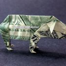 Money Origami PIG - Dollar Bill Art - Made with real $1.00 Cash