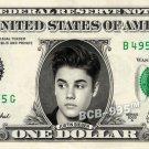 JUSTIN BIEBER on REAL Dollar Bill - Singer - $1 Custom Cash Money $$