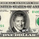 TONY BENNETT on REAL Dollar Bill - Celebrity Collectible Custom Cash