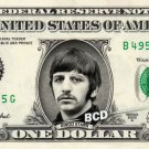 RINGO STARR on REAL Dollar Bill collectible Cash Money The Beatles $1