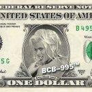 ANNA NICOLE SMITH on REAL Dollar Bill - Celebrity Cash Money Art