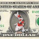 KOI FISH on REAL Dollar Bill - Collectible Custom Cash Money