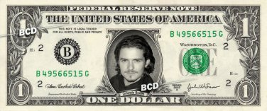 ORLANDO BLOOM on REAL Dollar Bill Spendable Cash Celebrity Money Mint $