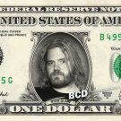 RYAN DUNN on REAL Dollar Bill collectible Cash Money - JACKASS $1