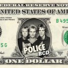 THE POLICE on REAL Dollar Bill Spendable Cash Celebrity Money Mint