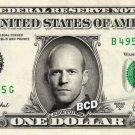 JASON STATHAM on REAL Dollar Bill Spendable Cash Celebrity Money Mint