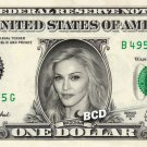 MADONNA on REAL Dollar Bill - Collectible Celebrity Custom Cash Money Art