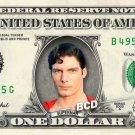 SUPERMAN on REAL Dollar Bill - Spendable Money Cash Christopher Reeve Clark Kent