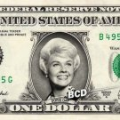 DORIS DAY on REAL Dollar Bill Collectible Cash Celebrity Money Mint
