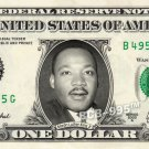 MARTIN LUTHER KING JR. on REAL Dollar Bill - Celebrity Collectible Custom Cash