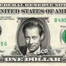 REX HARRISON on REAL Dollar Bill - Celebrity Collectible Custom Cash